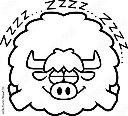 Cartoon Yak Sleeping Stock Image And Royalty Free Vector Files On