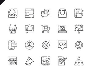 Simple Set Marketing Line Icons for Website and Mobile Apps.