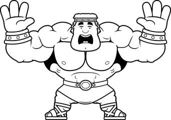Cartoon Hercules Scared