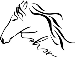 Print Horse logo design