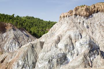 Cardona salt mine, Catalonia, Spain.