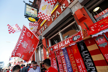Liverpool fans watch the Champions League Final