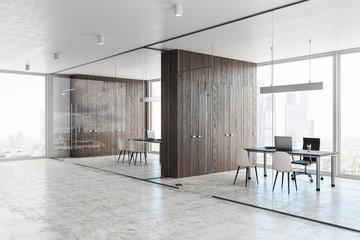 Contemporary glass hallway