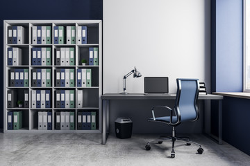 Contemporary office with copyspace