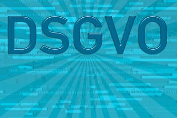 Hintergrund DSGVO Text auf Binären Zahlen