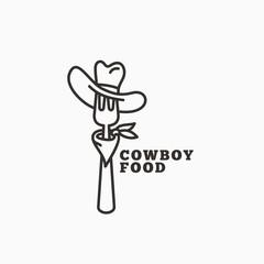 Cowboy food logo