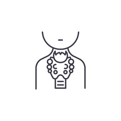 Thyroid gland linear icon concept. Thyroid gland line vector sign, symbol, illustration.