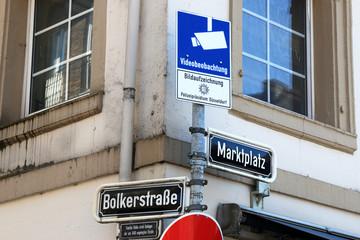Bolkerstrasse, Ecke Marktplatz in der Altstadt Düsseldorf