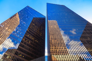 Modern downtown skyscrapers Fotobehang