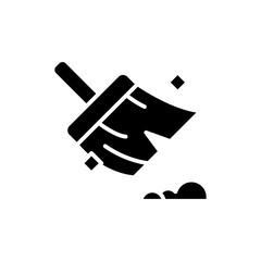 Maintaining cleanliness black icon concept. Maintaining cleanliness flat  vector symbol, sign, illustration.