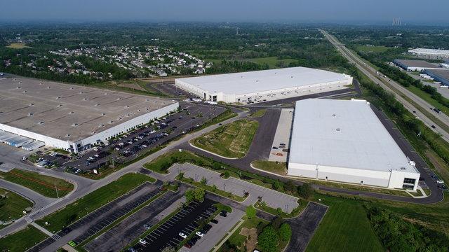 Aerial photo warehouse and distribution centers near the Cincinnati Northern Kentucky International Airport