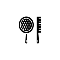 Spa combs black icon concept. Spa combs flat  vector symbol, sign, illustration.