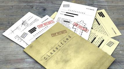 Documento top secret, desecretato, informazioni riservate, testo segreto. Informazioni non pubbliche. Foglio di carta con informazioni classificate. Vaticano, planimetria chiesa