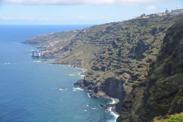 Costa en la isal de Tenerife, España