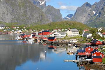 Norway. Fisherman's village in the Lofoten Islands