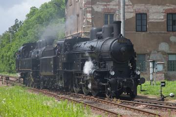 Czech old steam locomotive