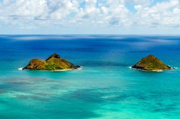 Moka-lua Islands Off of Lani Kai Beach in Oahu