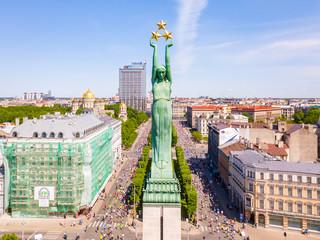 Aerial View of Milda and Riga city