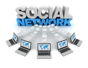 social network 3d concept illustration
