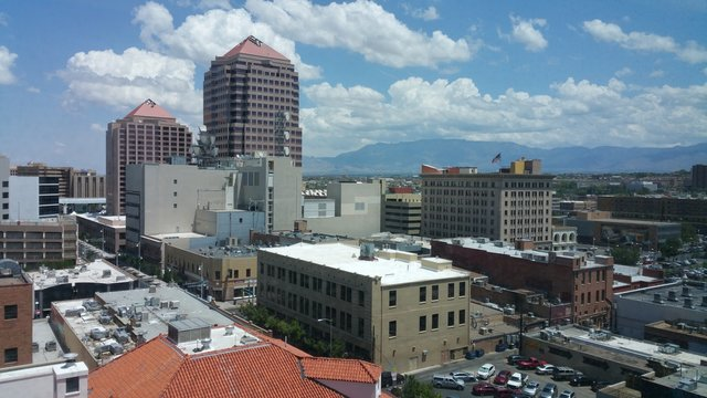 Albuquerque desert city skyline
