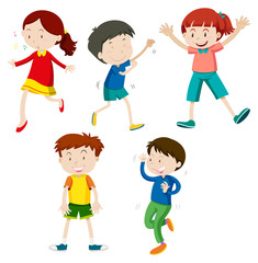A Set of Children Dancing