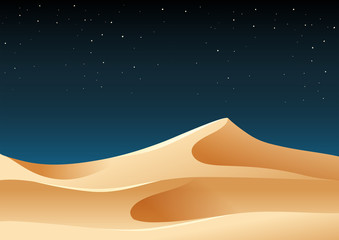 Desert sand at night illustration