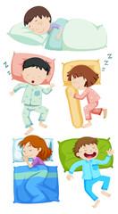 A Set of Kids Sleeping