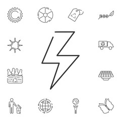 Lightning icon. Simple element illustration. Lightning symbol design from Ecology collection set. Can be used in web and mobile