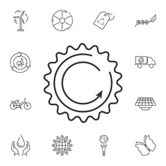 Renewable energy icon. Simple element illustration. Renewable energy symbol design from Ecology collection set. Can be used in web and mobile