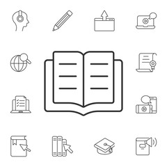 Book icon. Simple element illustration. Book symbol design from Ecology collection set. Can be used for web and mobile