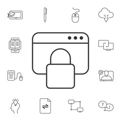 Locked page icon. Simple element illustration. Locked page symbol design from Ecology collection set. Can be used for web and mobile