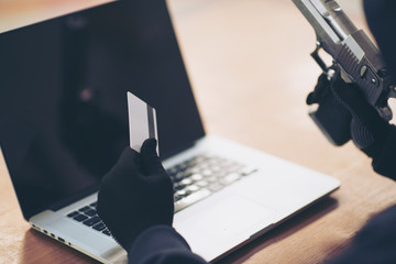 Hackers with credit cards on laptops use these data for unauthorized shopping. Unauthorized payments from credit card owners.