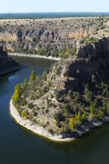 Hoces del Río Duratón, parque natural en Sepulveda, Segovia (Castilla y Leon, España)