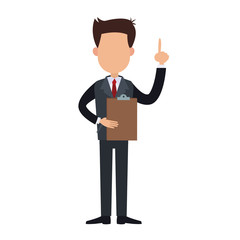 Executive businessman with clipboard vector illustration graphic design
