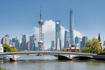 Aluminium Prints Shanghai shanghai scenery on suzhou river
