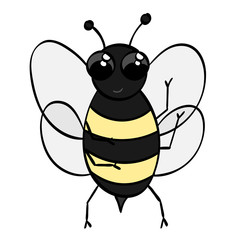 Cute Cartoon Bumble Bee