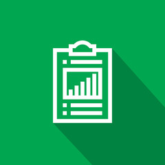 Spreadsheet document paper outline icon. thin line style for graphic and web design. Simple flat symbol vector Illustration.