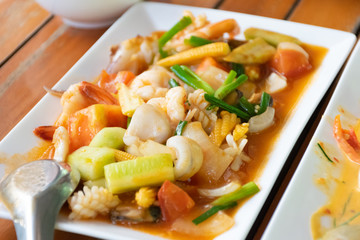 Fried Shrimp with Sweet and Sour Shrimp, Seafood
