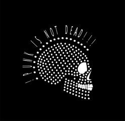 Punk is not dead skull icon logo black color