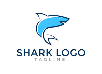 Great shark blue Logo Template for your company