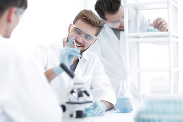 background image science team in the lab