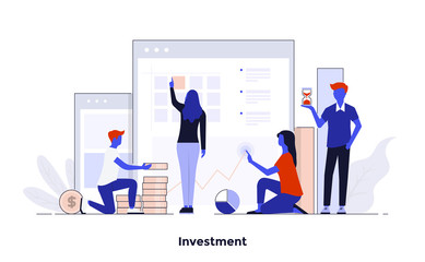 Modern Flat design Concept Illustration - Investment