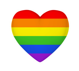Rainbow Heart Isolated