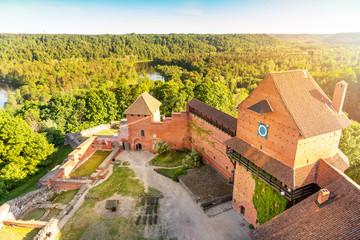 Fotobehang Kasteel Turaida castle at sunset, Latvia