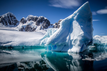 Reflecting iceberg in Antarctica