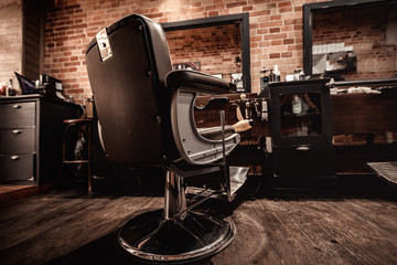 Client's stylish barber chair