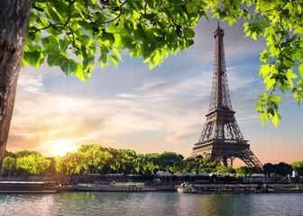 Wall Mural - Sunset over Eiffel Tower