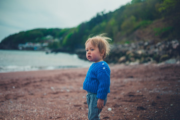 Little toddler boy on the beach