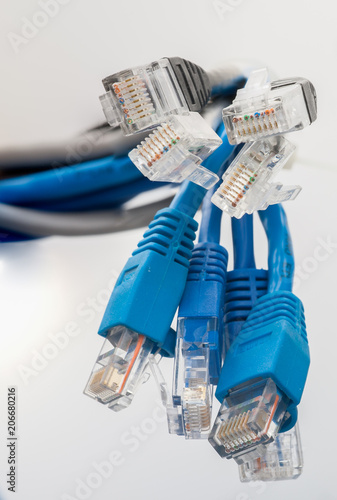 Brilliant Network Cables Rg 45 Network Connection Connectors Close Up Wiring 101 Ferenstreekradiomeanderfmnl