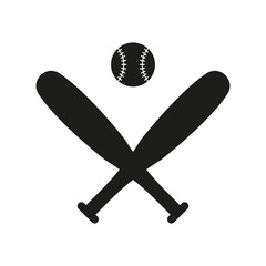 Baseball icon in flat style isolated on white background. For your design, logo. Vector illustration.